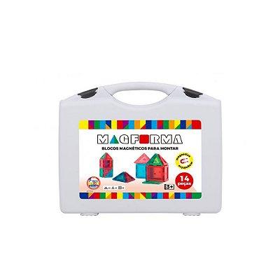 Brinquedo Infantil Jokenpô/Steam Toy Jogo Magnético em Maleta 14 pcs