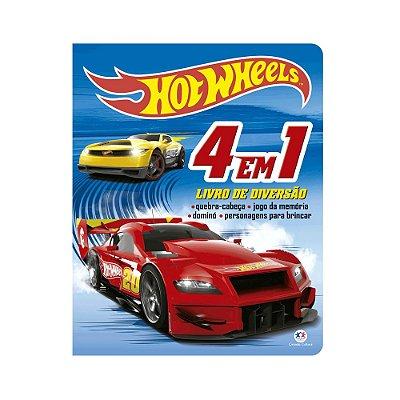 Livro Hot Wheels - 4 em 1 - Livro de Diversão