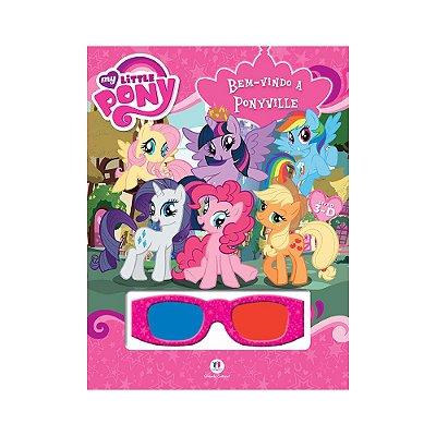 Livro 3D My Little Pony - Bem-vindo a Ponyville