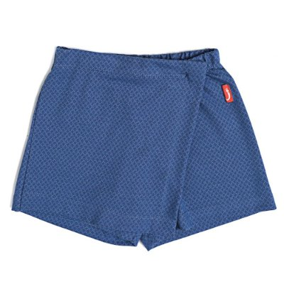 Saia Shorts Infantil Jokenpô Denim