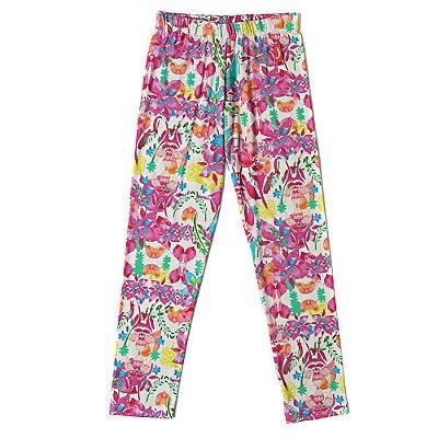 Legging Infantil Jokenpô Floral Pink
