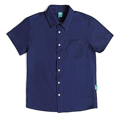 Camisa Infantil Jokenpô Cambraia Masculina Marinho