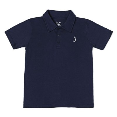 Camisa Polo Infantil Jokenpô Básica Masculina Marinho