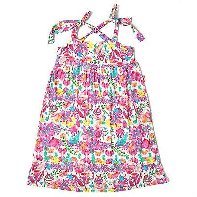 Vestido Infantil Jokenpô Floral Pink