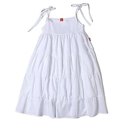 Vestido Infantil Jokenpô Cambraia Branco
