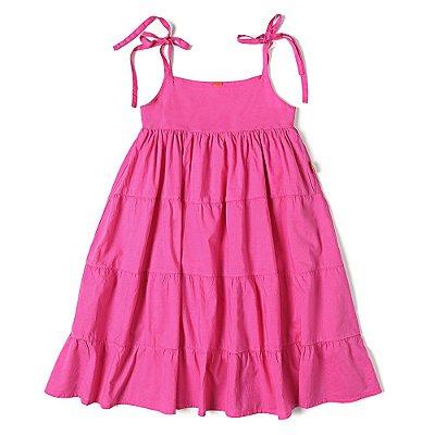Vestido Infantil Jokenpô Cambraia Pink