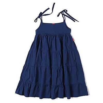 Vestido Infantil Jokenpô Cambraia Marinho