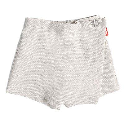Saia Shorts Infantil Jokenpô Sarja Cru/Dourado