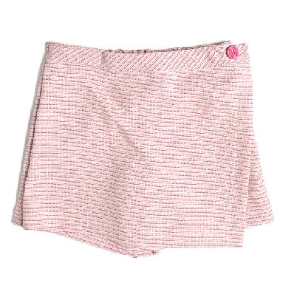 Saia Shorts Infantil Jokenpô Sarja Rosa/Dourado