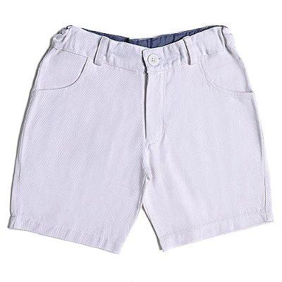Bermuda Infantil Jokenpô Sarja Masculina Branco