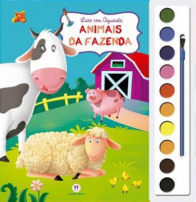 Livro Aquarela Animais da Fazenda