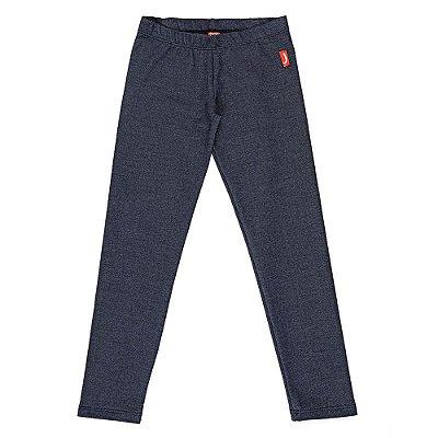 Legging Infantil Jokenpô Malha Jeans Azul Feminina