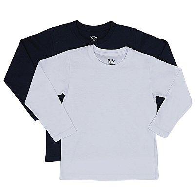 Kit 2 Camisetas Infantil Jokenpô Básica M/L Masculina