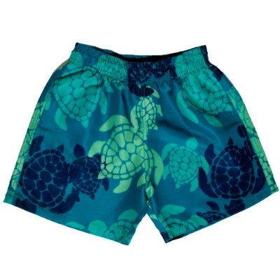 Shorts D'água Infantil Jokenpô Tartaruga Masculino Verde