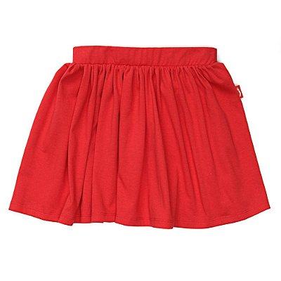 Saia com Shorts Infantil Jokenpô Malha Feminina Vermelha
