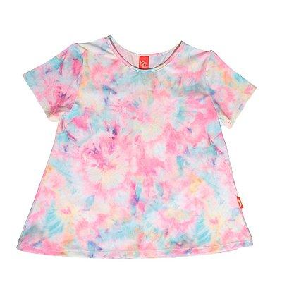 Blusa Infantil Jokenpô Tie Dye Feminina Rosa