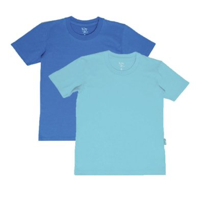 Kit 2 Camisetas Infantil Jokenpô Básica M/C Masculina Azul Claro + Azul