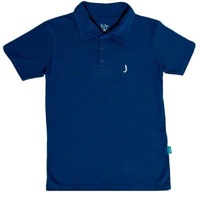 Camisa Polo Infantil Jokenpô Piquet Masculina Azul