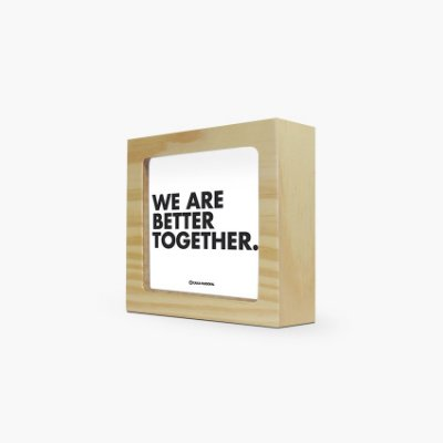 "Quadro ""We are better together"" 12 x 12 x 4cm"