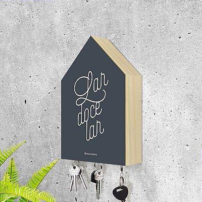 "Porta-chaves Casa: ""Lar doce lar"""