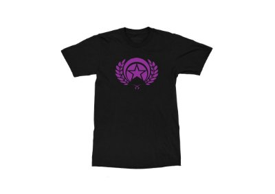 CAMISETA FOLLY LOGO PURPLE BLACK