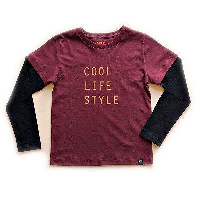 Camiseta Cool - marsala