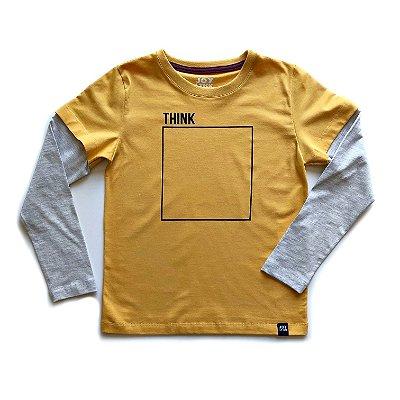 Camiseta Think - preta