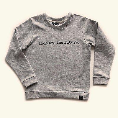 Blusão Kids are the future - cinza