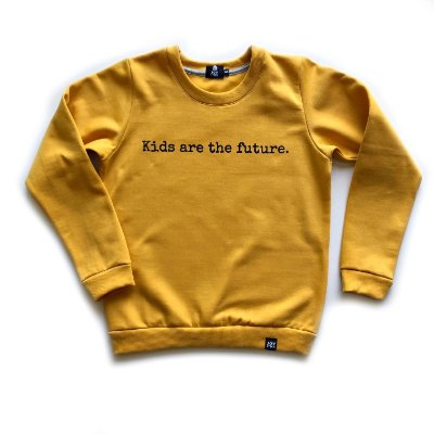 Blusão Kids are the future - mostarda
