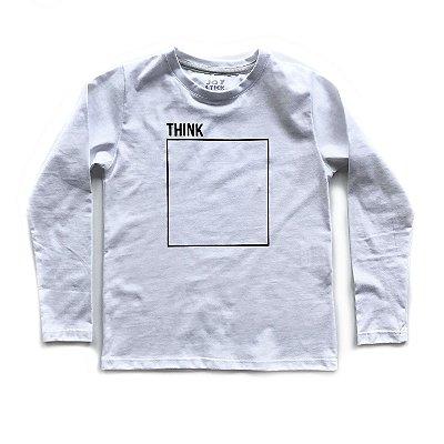 Camiseta Think - branca