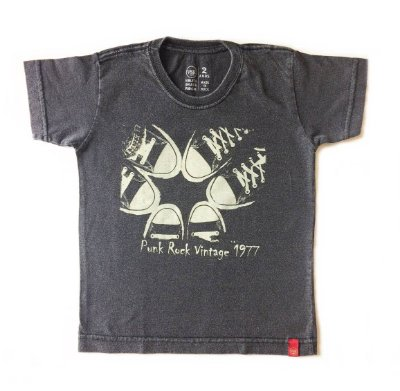 Camiseta Punk rock a vintage