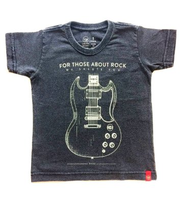 Camiseta For Thouse About Rock