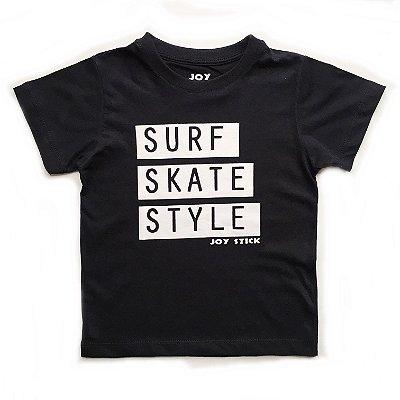 Camiseta Surf Skate Style - preta