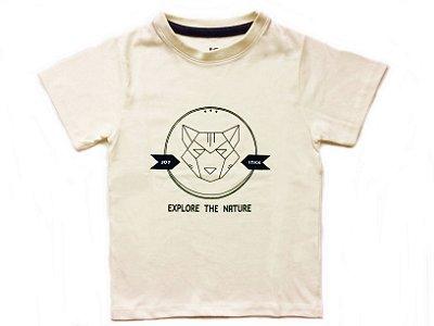 Camiseta Fox -  Off white