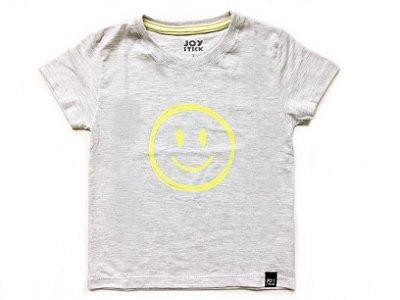 Camiseta Smiles - branco mescla