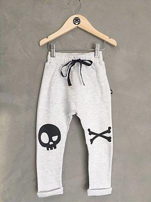 Calça Pirata - branco mescla