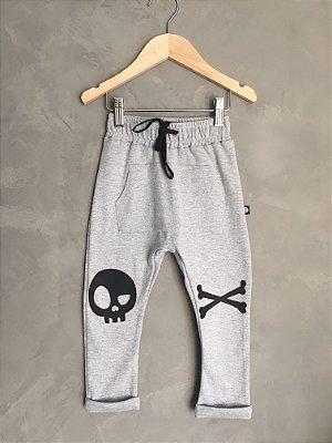 Calça Pirata - cinza mescla