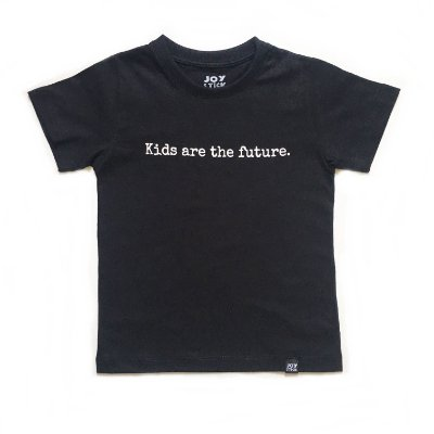 Camiseta Kids are The Feature - preta