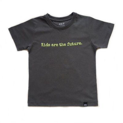 Camiseta Kids are The Feature - cinza
