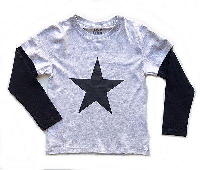 Camiseta Future starts here - Branco mescla