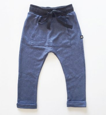 Calça saruel lisa - azul mescla