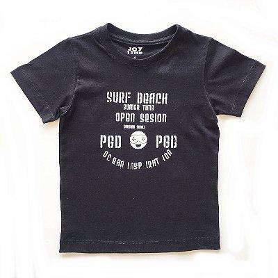 Camiseta surf beach -  preta