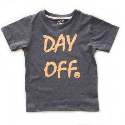 Camiseta Day off - cinza chumbo