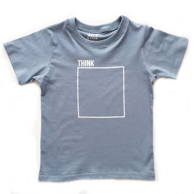 Camiseta think - azul