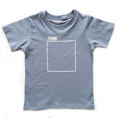 Camiseta think - azul