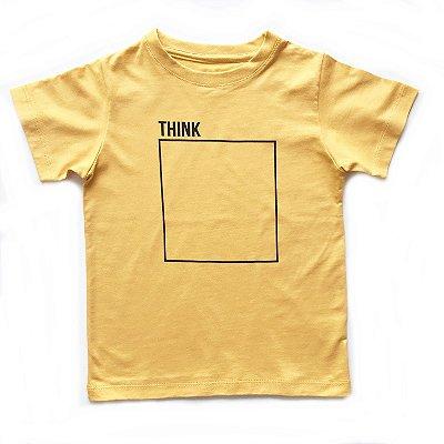 Camiseta think - mostarda