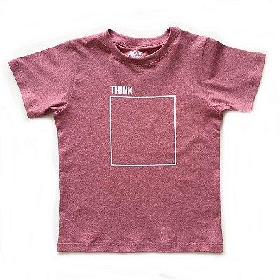 Camiseta think - goiaba