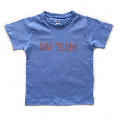 Camiseta Say yeah - azul