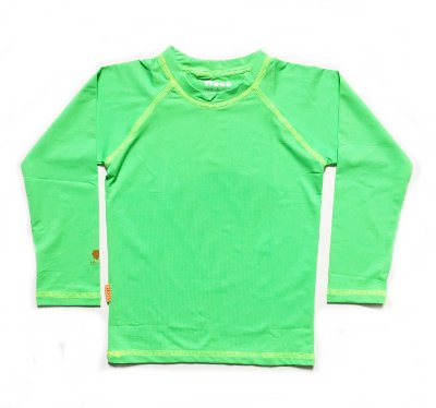 Camiseta com fator de proteção UV 50+  verde