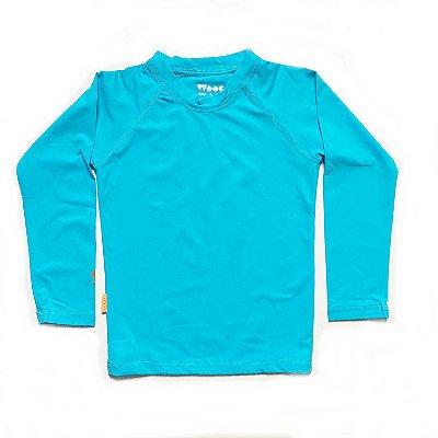 Camiseta com fator de proteção UV 50+  azul claro